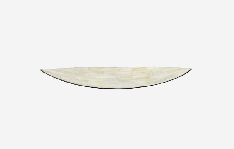 Centro de mesa  ovalado pequeño Nácar
