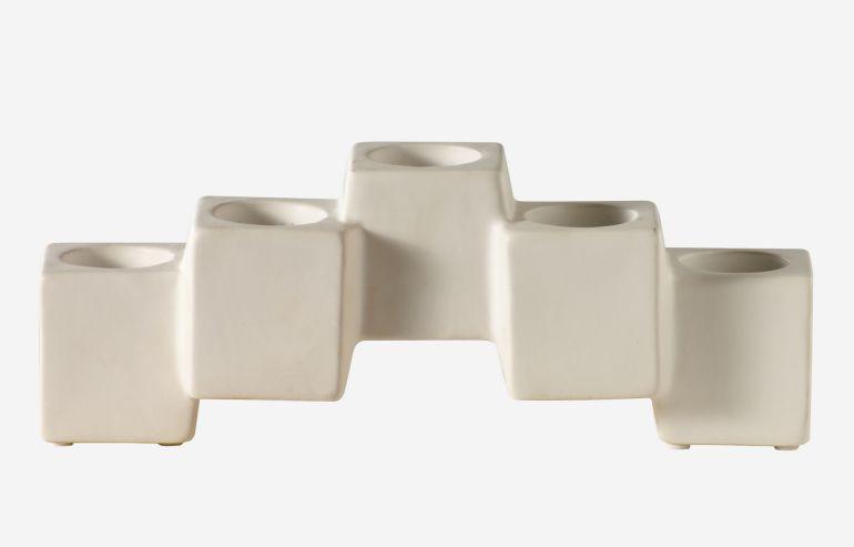 Candelabro Blocks blanco