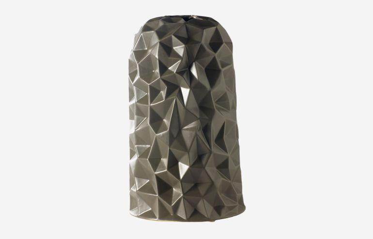 Jarrón Origami gris