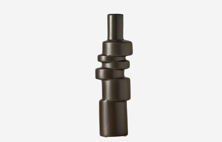 Jarrón Cylinder gris
