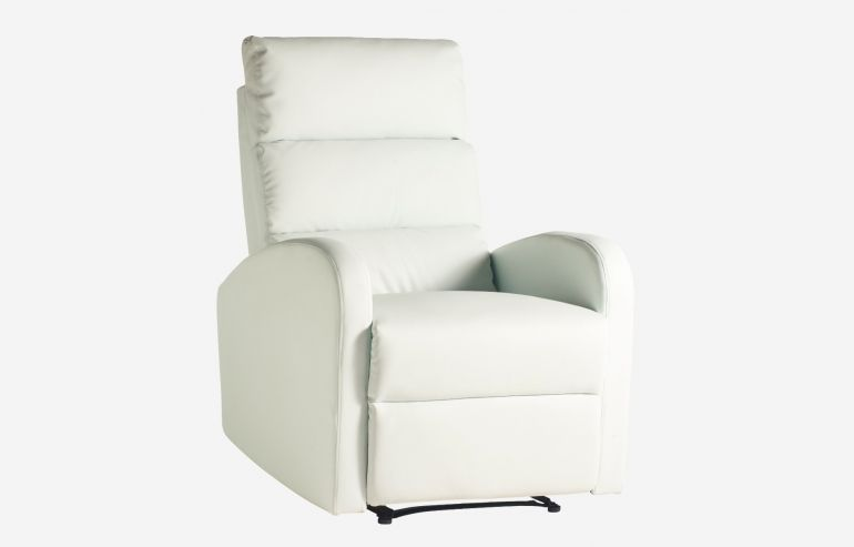Soft white  relaxing armchair