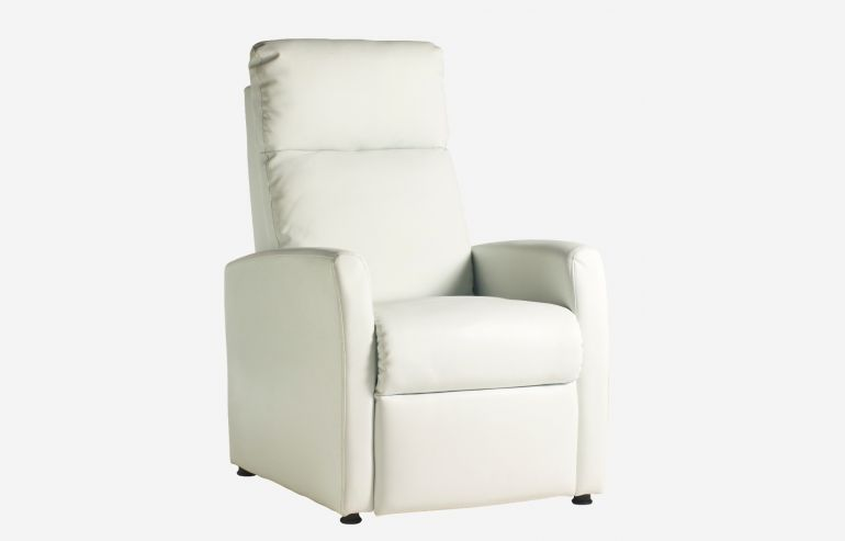 Jet white relaxing armchair