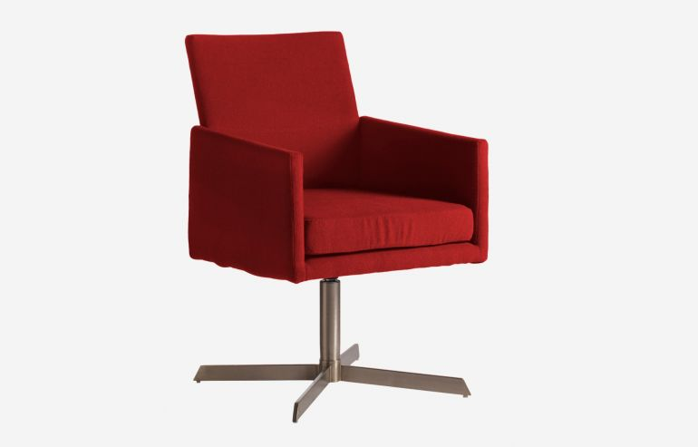 Don red armchair