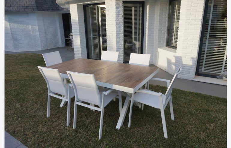 Set de jardín mesa de comedor + 6 sillones Madrid