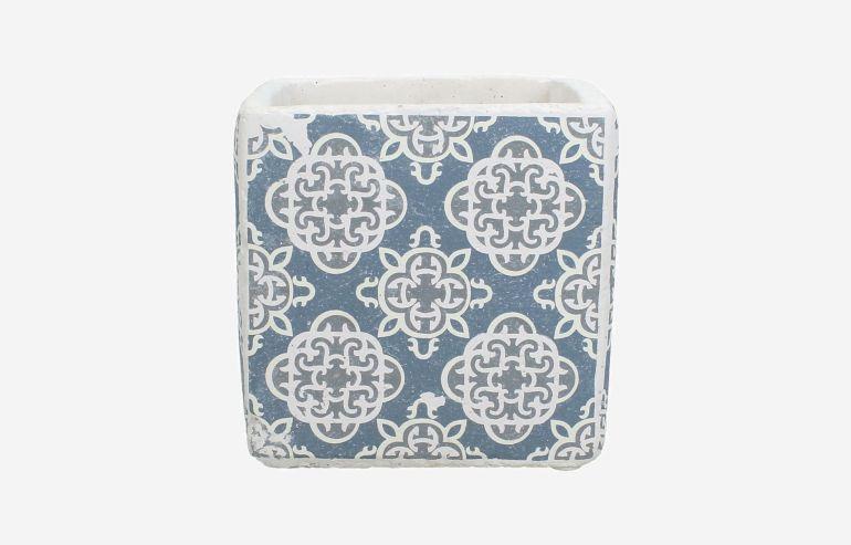 Maceta Cement azul