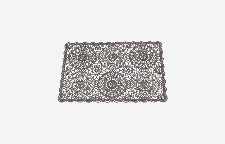 Mantelito Crochet negro
