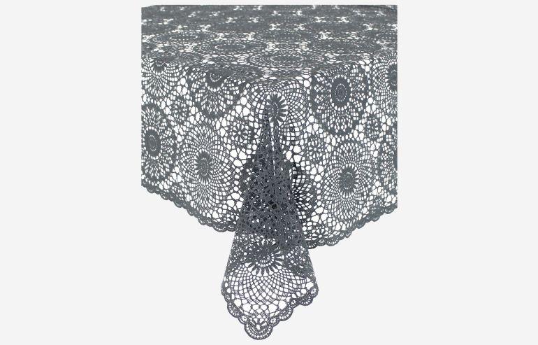 Mantel Crochet negro 150x264