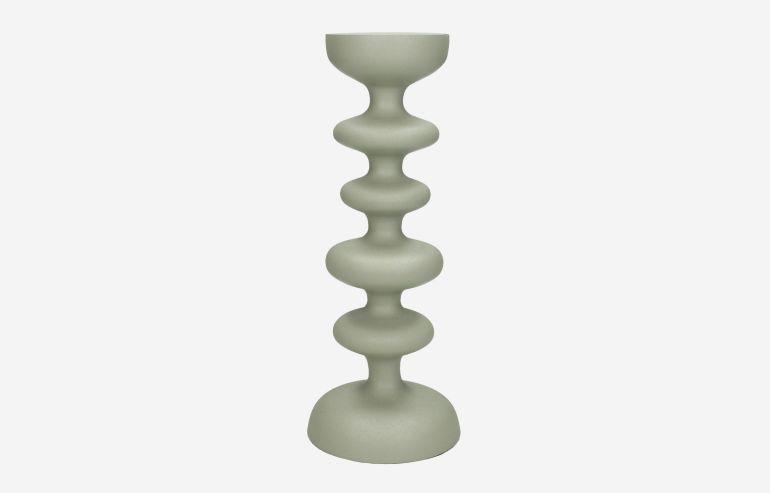 Candelabro de aluminio gris