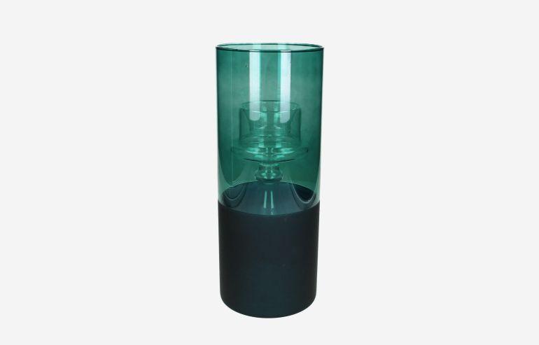 Candelabro de cristal verde