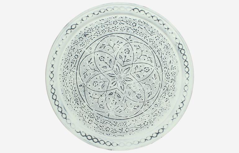 Gray metal plate