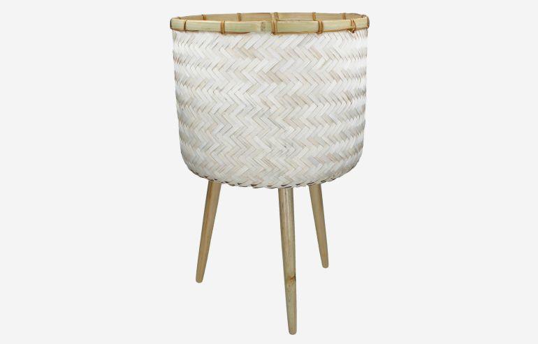 Maceta Bamboo blanca