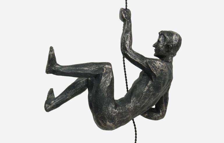Escultura de polirresina Escalador