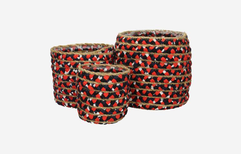 Set de 3 cestas multicolor