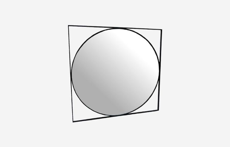Espejo de metal negro 97 cm