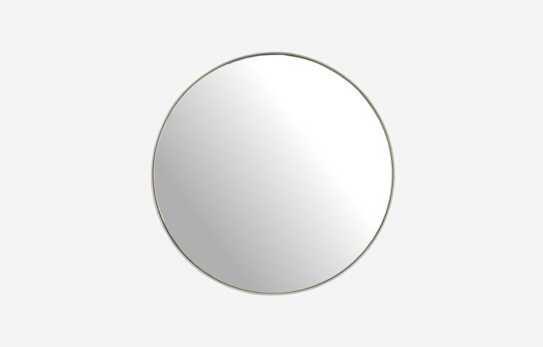 Espejo de metal blanco 90 cm
