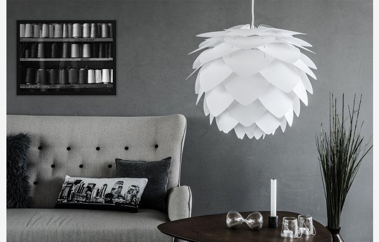 Lámpara de techo Silvia medium blanco