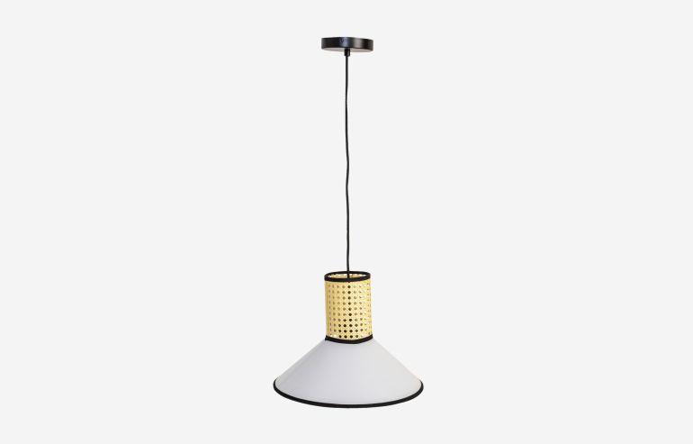 Lámpara de techo Heat blanca-natural