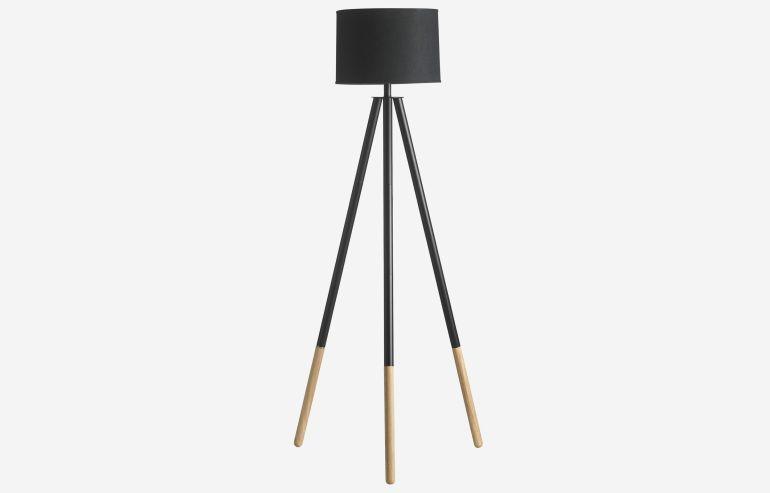 Lámpara de pie Nature negro