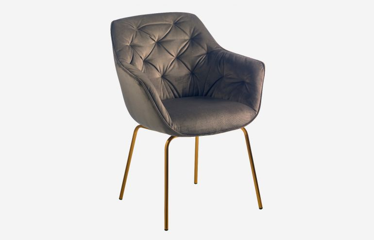 Hedy Lamarr champagne armchair