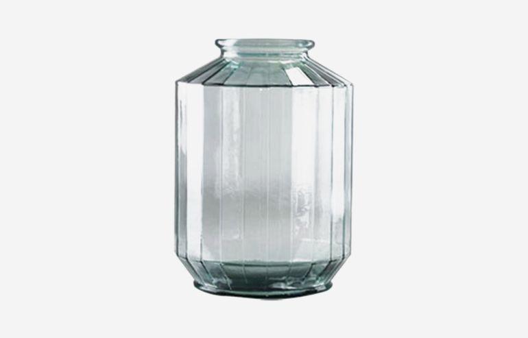 Jarrón Strepe transparente 35 cm