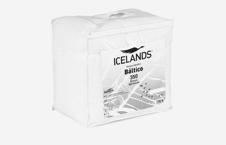 Edredón báltico 220x220 cm blanco
