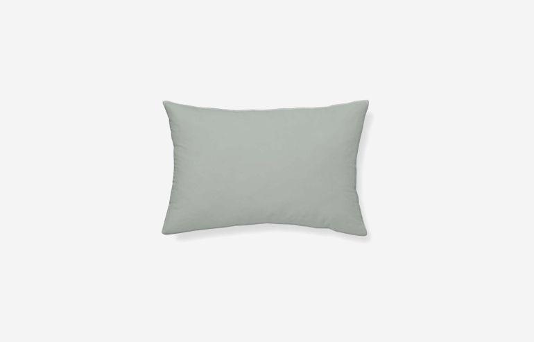 Cojín algodón Cervantes verde 45x30 cm