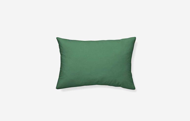 Cojín algodón Cervantes verde oscuro 45x30 cm