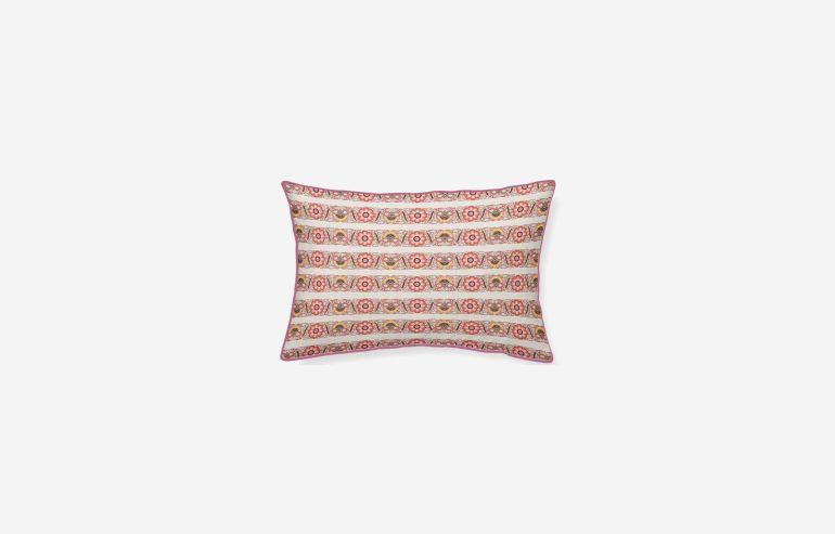 Cojín algodón Denali rosa 45x30 cm