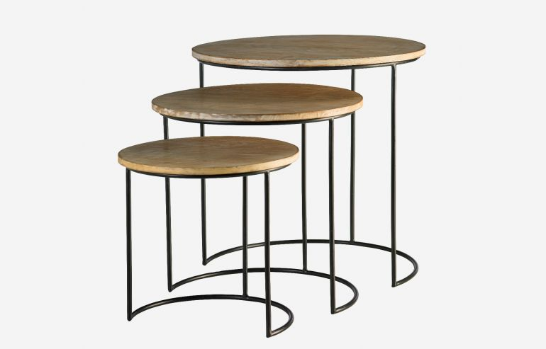 Full moon set of 3 nesting table