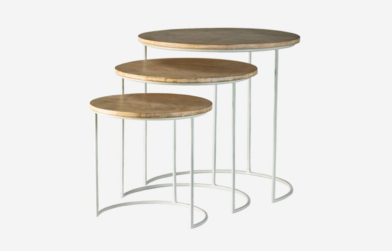Full moon set of 3 nesting tables
