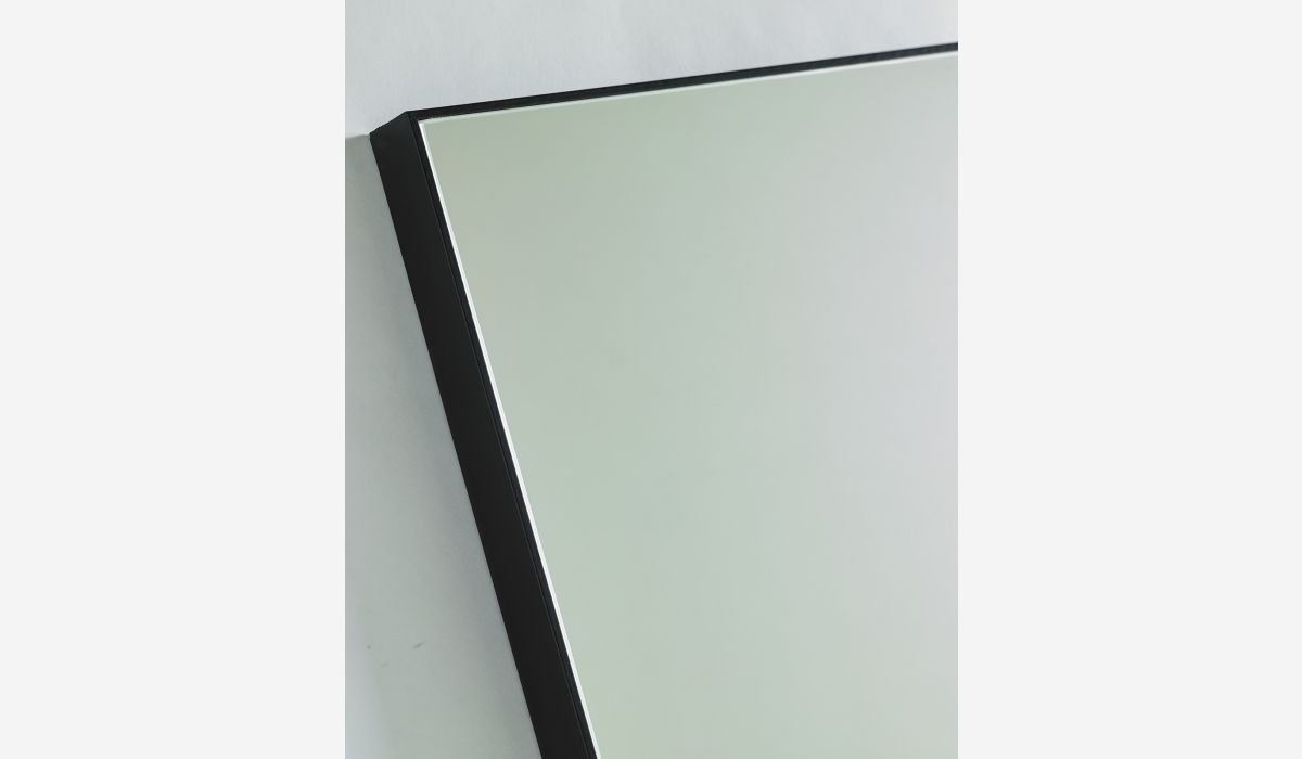 Espejo Look negro 100x100 cm