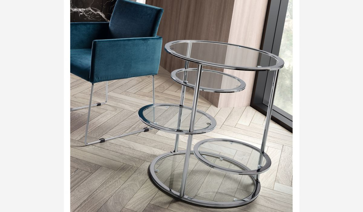 Optical lents side table