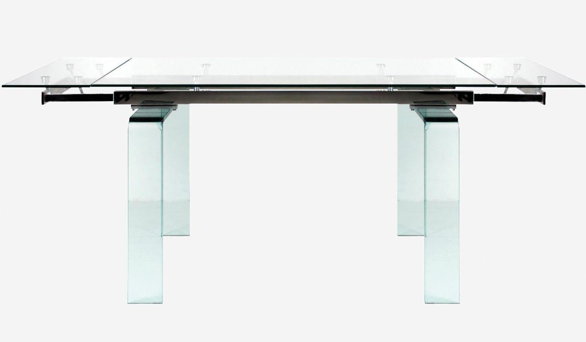 Mesa de comedor extensible Urban cristal