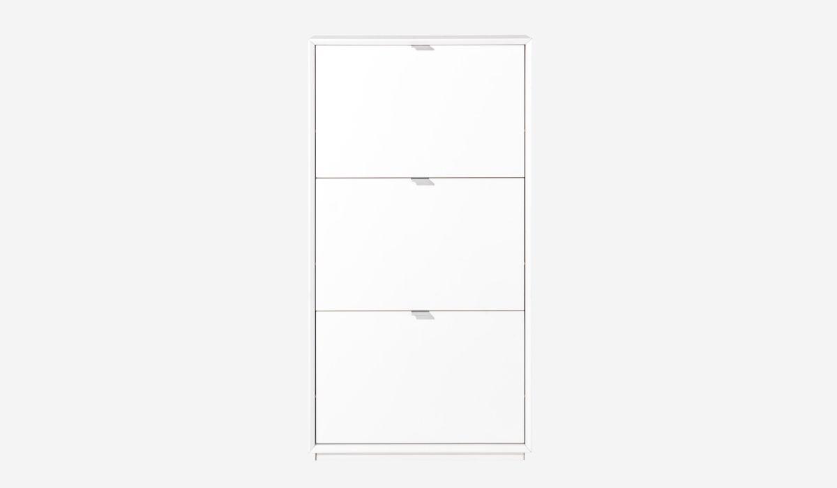 Zapatero 3 puertas White