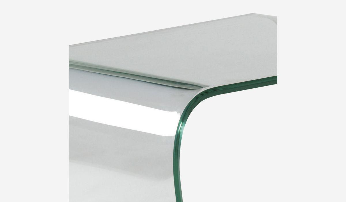 Mesa de rincón Transparente