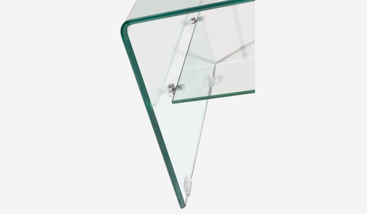 Mesa de centro con bandeja Transparente