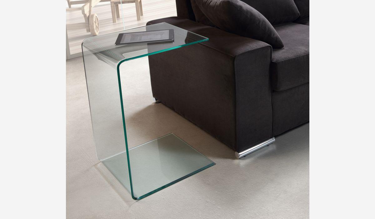 Mesa auxiliar Transparente