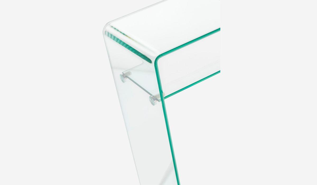 Consola con bandeja Transparente