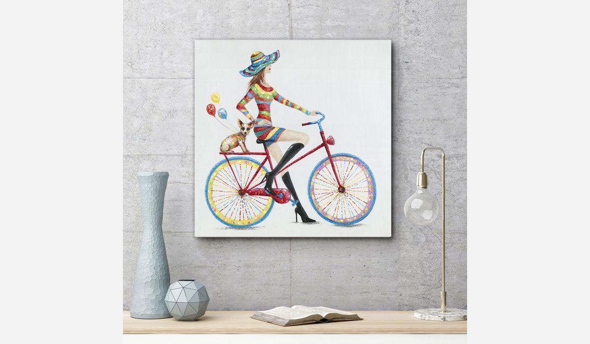 Cuadro oleo Cool biker