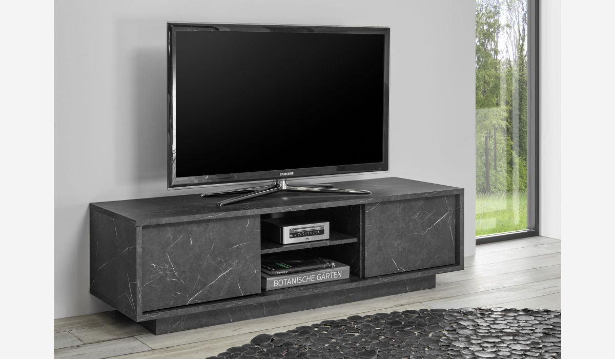 Mueble Tv Ice mármol antracita
