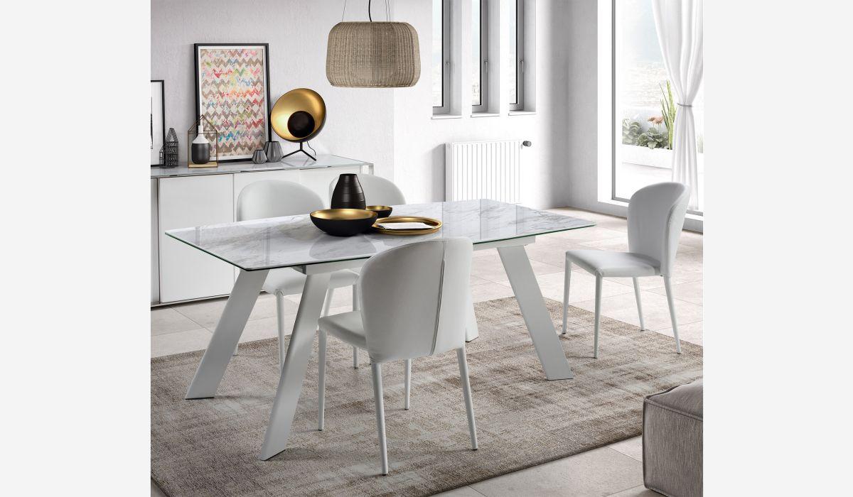 Mesa de comedor extensible Marble