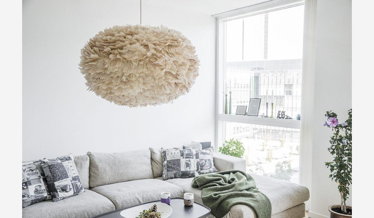Lámpara de techo Eos xl marrón