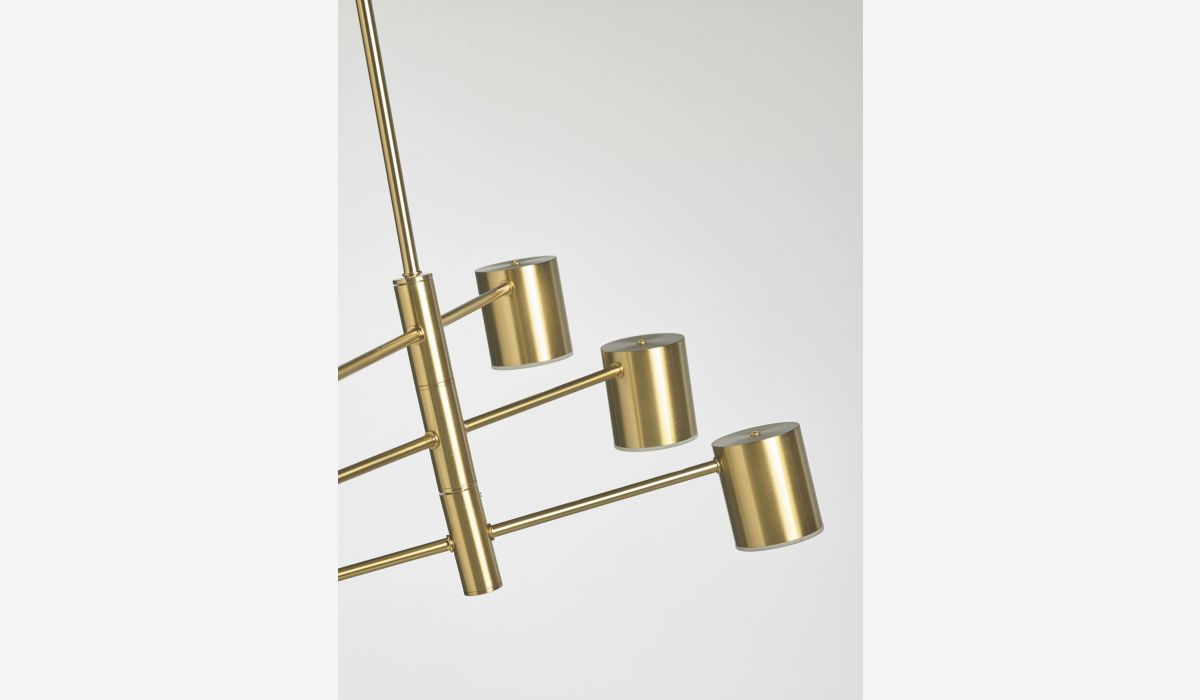 Lámpara de techo Cilinder dorado