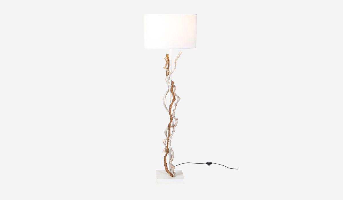 Lámpara de pie Wild blanco