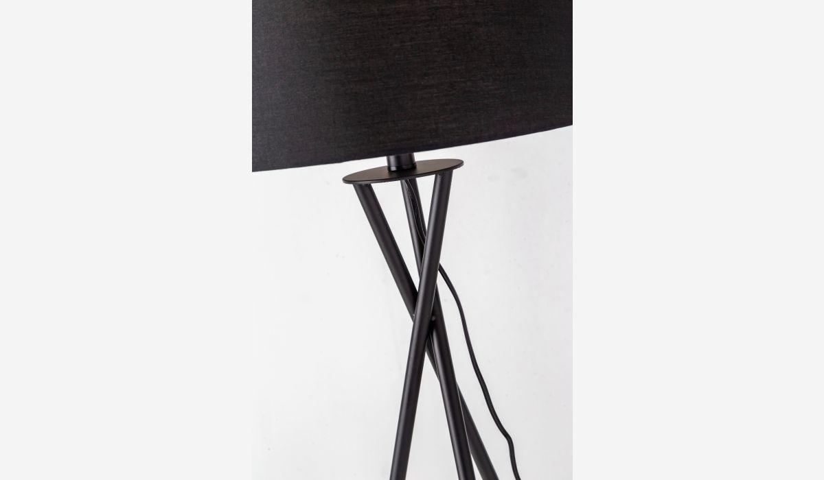 Lámpara de pie Tipi negro