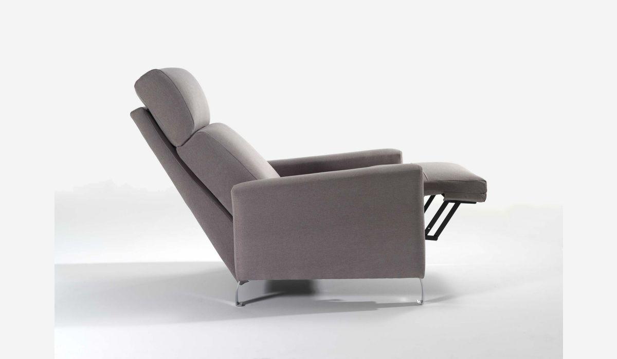 Sillón relax manual Loira gris