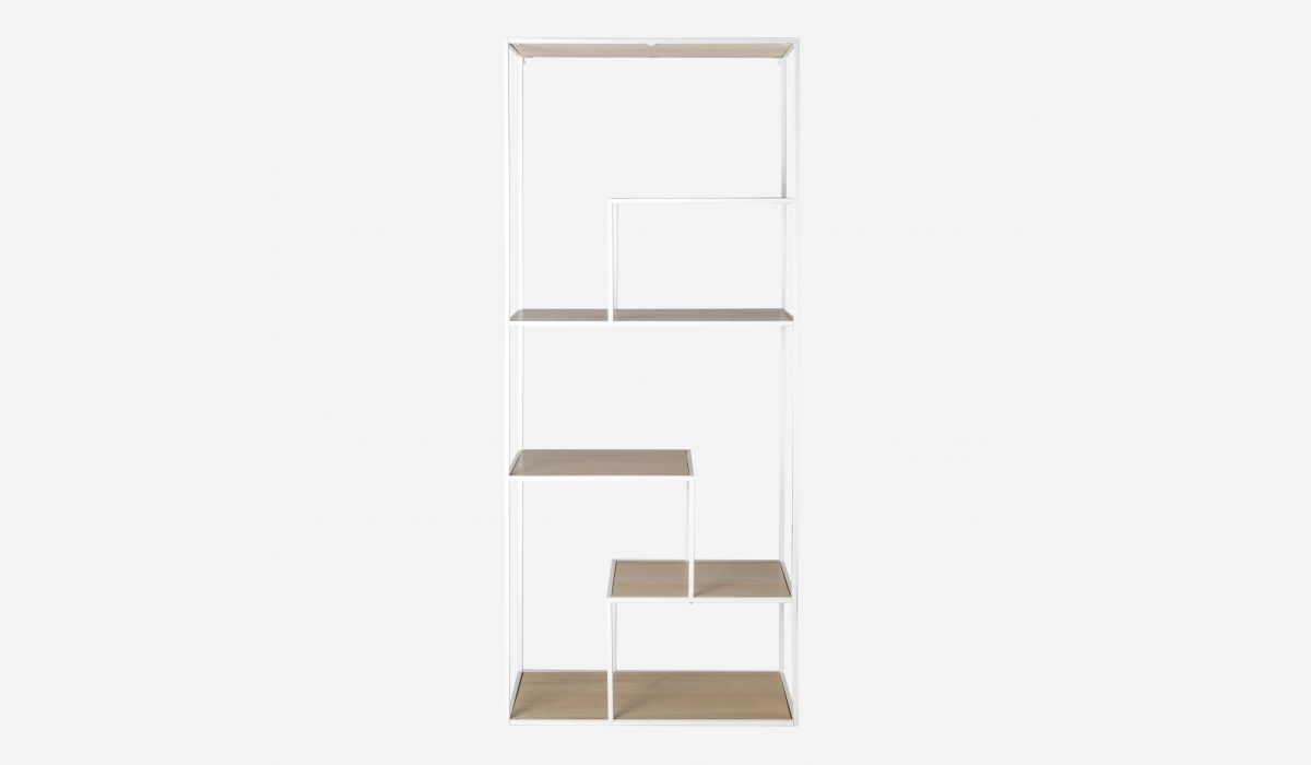 Puzzle white shelf