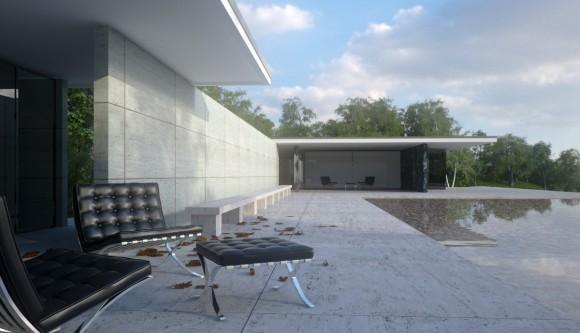 Mies van der rohe un cl sico en casa for Casa minimalista de mies van der rohe