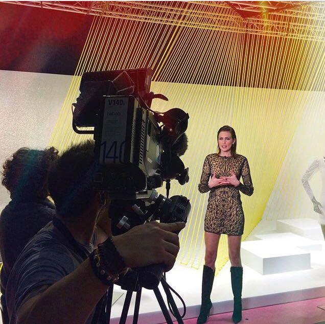 Set de Flash Moda con Nieves Álvarez.