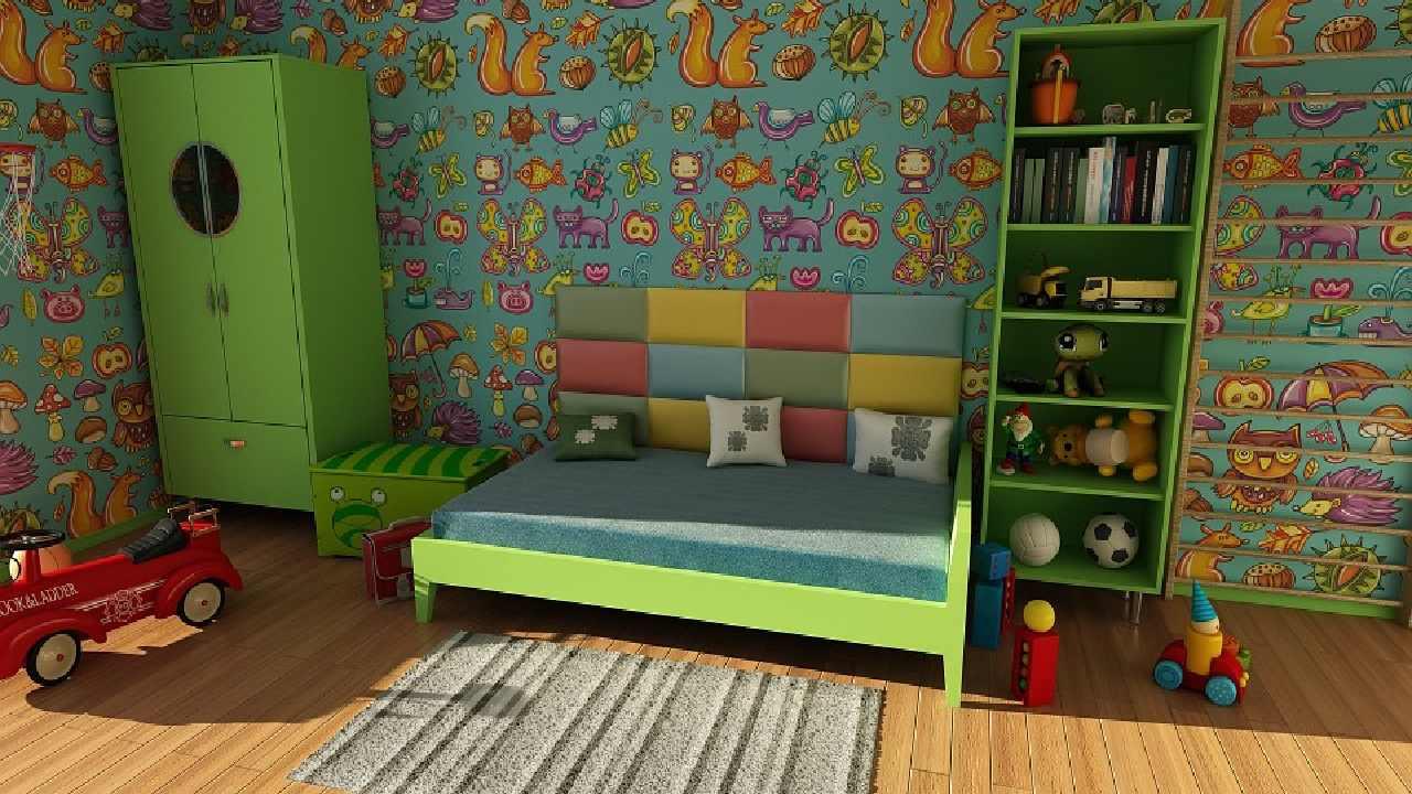 Los muebles de los niños, funcionales, prácticos, sencillos